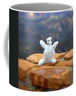 Snowman At Bryce - Square Coffee Mug by Gordon Elwell