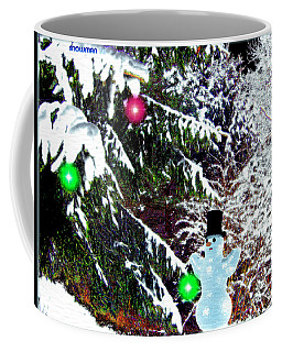 Coffee Mug featuring the digital art Snowman by Daniel Janda