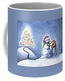 Snowman's X'mas Coffee Mug by Keiko Katsuta