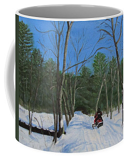 Snowmobile On Trail Coffee Mug