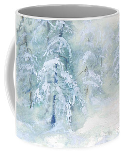 Coffee Mug featuring the painting Snowstorm by Joy Nichols