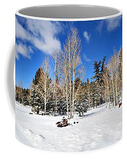 Snowy Aspen Grove Coffee Mug