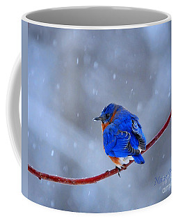 Snowy Bluebird Coffee Mug