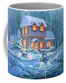Snowy Bright Night Coffee Mug