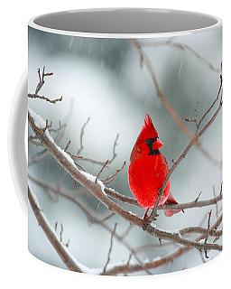 Snowy Cardinal Coffee Mug by Karol Livote