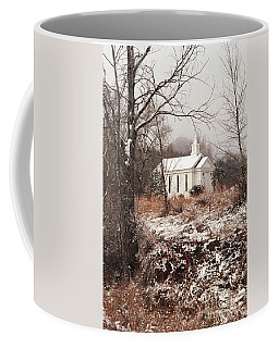 Snowy Chapel In The Wildwood Coffee Mug