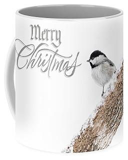 Snowy Chickadee Christmas Card Coffee Mug