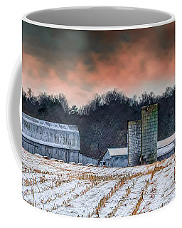 Snowy Cornfield Coffee Mug