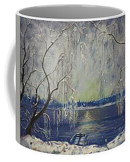Snowy Day At The Lake Coffee Mug