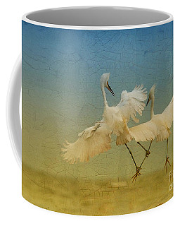 Snowy Egret Dance Coffee Mug