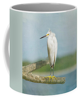 Coffee Mug featuring the photograph Snowy Egret by Kim Hojnacki