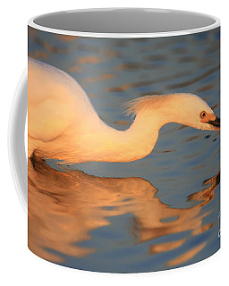 Coffee Mug featuring the photograph Snowy Egret Mirror by John F Tsumas