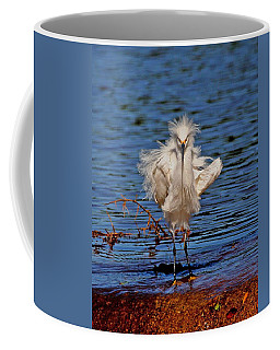 Snowy Egret With Yellow Feet Coffee Mug