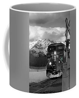 Snowy Engine Through The Rockies Coffee Mug