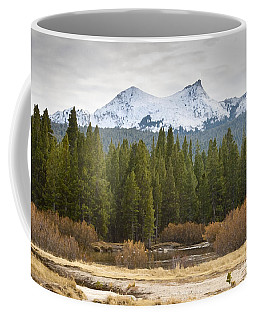 Coffee Mug featuring the photograph Snowy Fall In Yosemite by David Millenheft