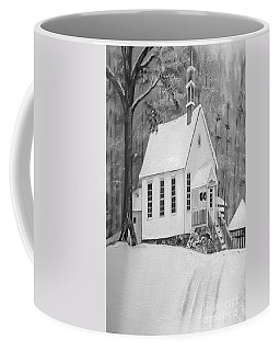 Snowy Gates Chapel -white Church - Portrait View Coffee Mug