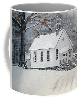 Snowy Gates Chapel  -little White Church - Ellijay Coffee Mug