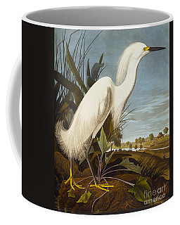 Snowy Heron Or White Egret Coffee Mug