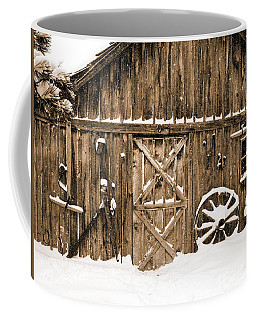 Snowy Old Barn Coffee Mug