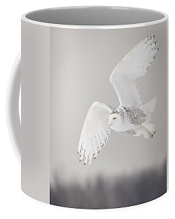 Snowy Owl In Flight 4 Coffee Mug