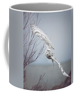 Snowy Owl In Flight Coffee Mug