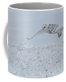 Coffee Mug featuring the photograph Snowy Owl #1/3 by Patti Deters