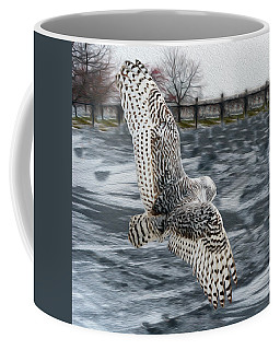 Snowy Owl Wingspan Coffee Mug