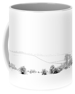 Coffee Mug featuring the photograph Snowy Panorama by Liz Leyden