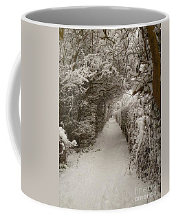 Coffee Mug featuring the photograph Snowy Path by Vicki Spindler
