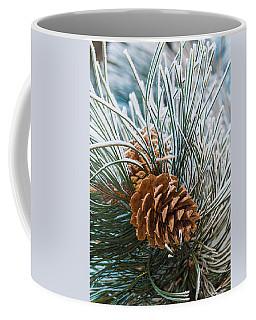 Snowy Pine Cones Coffee Mug