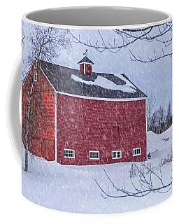 Snowy Red Barn Coffee Mug