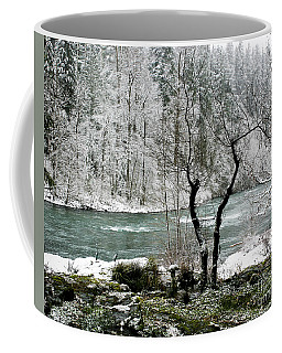 Coffee Mug featuring the photograph Snowy River And Bank by Belinda Greb