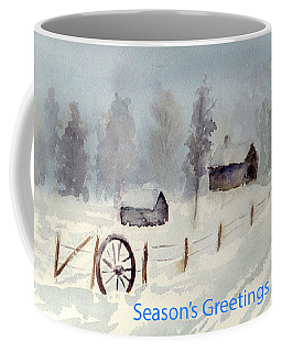 Snowy Road Coffee Mug by Christine Lathrop