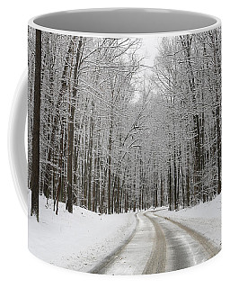 Snowy Road In Oak Openings 7058 Coffee Mug