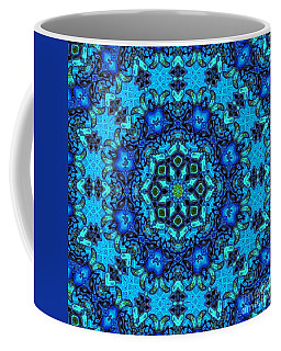 So Blue - 33 - Mandala Coffee Mug by Aimelle