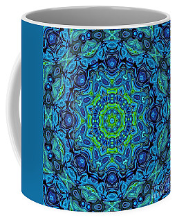 So Blue - 43 - Mandala Coffee Mug by Aimelle
