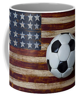 Soccer Ball And Stars And Stripes Coffee Mug by Garry Gay