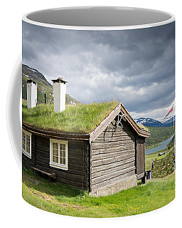 Sod Roof Log Cabin Coffee Mug