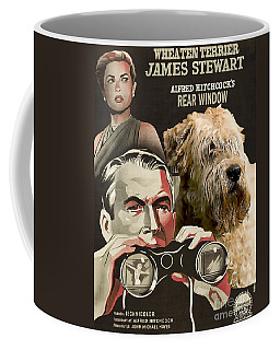 Soft-coated Wheaten Terrier  - Wheaten Terrier Art Canvas Print - Rear Window Movie Poster Coffee Mug