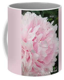 Coffee Mug featuring the digital art Soft Pink Peony by Jeannie Rhode