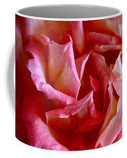 Coffee Mug featuring the photograph Soft Pink Petals Of A Rose by Janice Rae Pariza