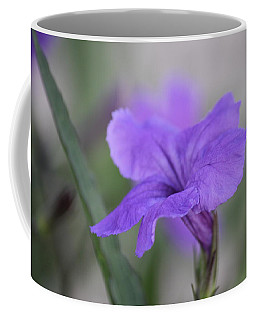 Coffee Mug featuring the photograph Soft Purple Floral by Penny Meyers