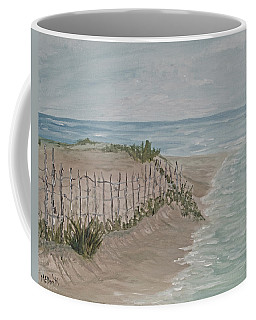 Coffee Mug featuring the painting Soft Sea by Barbara McDevitt