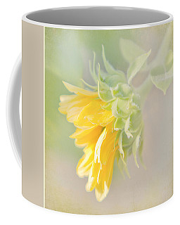Soft Yellow Sunflower Just Starting To Bloom Coffee Mug