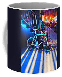 Coffee Mug featuring the photograph Soho Bicycle  by Joan Reese