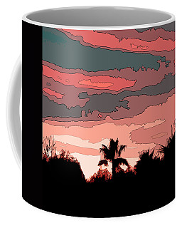 Coffee Mug featuring the digital art Solana Beach Sunset 1 by Kirt Tisdale
