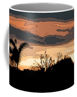 Coffee Mug featuring the digital art Solana Beach Sunset 2 by Kirt Tisdale