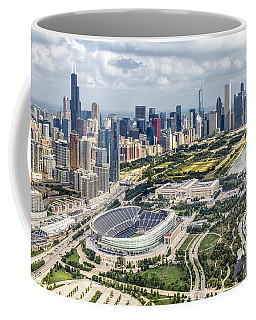 Soldier Field And Chicago Skyline Coffee Mug