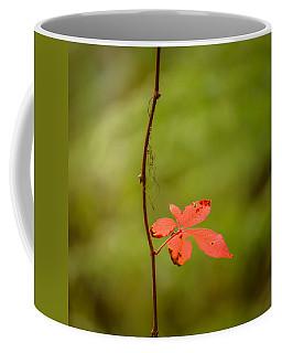 Solitary Red Leaf Coffee Mug