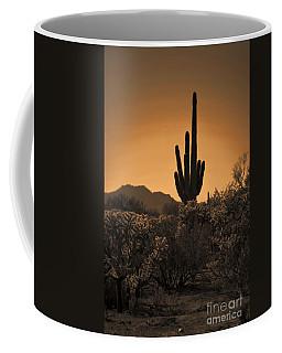 Solitary Saguaro Coffee Mug by Deb Halloran